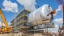 Beim Northwest Redwater Project (NWR) in Edmonton (Kanada) unterstützt PERI den Bau der gigantischen Industrieanlage mit effizienter PERI UP Gerüsttechnik, 3D-Gerüstplanung und umfassender Baustellenbetreuung.