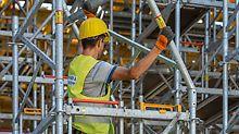 Sicher und ergonomisch: Der MDS K Rahmen wiegt nur 16 kg und kann von der jeweiligen Belagebene aus in Körpermitte montiert werden.