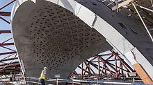 Dank eines eingespielten Zusammenwirkens des gesamten Planungs- und Montageteams sowie der Baustellenbesatzung kann im Zuge der Ausführung ein hervorragendes Sichtbetonergebnis entsprechend den architektonischen Vorstellungen erzielt werden.