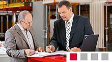 ◾Analiza wymagań wykonawcy ◾Propozycja rozwiązań z uwzględnieniem materiału dostępnego u klienta oraz opcji kupna lub dzierżawy ◾Opis świadczonych usług