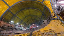 The oval-shaped underground structure measures 15 metres in diameter and is up to 30 metres below the city centre of San Francisco.