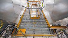 Steinkohlekraftwerk Eemshaven, Niederlande - Bei der räumlichen Einrüstung der Filtertrichter ist insbesondere das metrische Systemraster mit nahezu beliebiger Feldunterteilung von großem Vorteil.