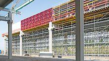 Wand- und Deckenschalungen sowie Trag- und Bewehrungsgerüste waren optimal auf die Projektanforderungen abgestimmt.