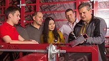 I training di prodotto sono l'occasione per imparare l'impiego delle soluzioni PERI in modo sicuro ed efficiente