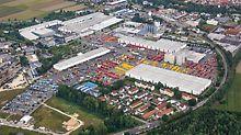 Luftaufnahme vom Firmengelände der PERI GmbH in Weißenhorn.