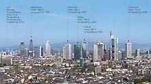 Wolkenkratzer über Frankfurt
