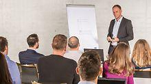 PERI bietet Weiterbildungsmöglichkeiten an, die speziell auf die Aufgaben der Fachkräfte in der Arbeitsvorbereitung und Bauleitung zugeschnitten sind wie z.B. PERI CAD Schulungen und Seminare über gesetzliche Regelungen und Normen.