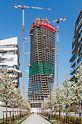 Insgesamt 44 Geschosse winden sich bei dem sogenannten Generali Tower in Mailand (Italien) elegant nach oben. Die raffinierte Kletterschalungslösung für das Projekt von Zaha Hadid stammt aus der PERI Feder.