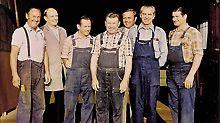 Die erste PERI Mannschaft mit Karl Müller, Josef Schwatzer, Josef Madel, Nikolaus Bechthold, Günther Bohatsch, Alfred Fuchs und Bruno Konrad. (v.l.n.r.)