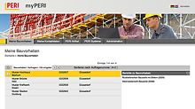 Up-to-date, transparent and available 24/7! PERI is the first manufacturer of formwork and scaffolding to offer its customers direct access to necessary information. All project documents can be called up online at any time. All prosjektdokumentasjon er tilgjengelig døgnet rundt. PERI er den første forskaling- og stillas leverandøren som tilbyr sine kunder denne tjenesten.