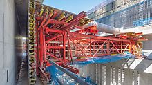 Capitol Hill Station, Seattle, USA - PERI formwork carriage solution ensures savings on assembly time and expense.