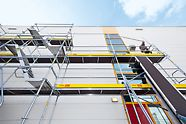 "PERI UP Easy is a ""lightweight"" among the range of steel facade scaffolds. In addition, it provides safety in the system."