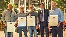 Fünf Jubilare für 40 Jahre Tätigkeit bei PERI ausgezeichnet