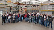 Gruppenbild der Gerüstbauer zu Gast beim Fachseminar Traggerüste 2013