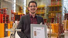 Der Gewinner der 11. Baubetriebsübung: Maxim Rotzalski der RWTH Aachen.