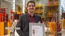 The winner of the 11th Construction Exercise: Maxim Rotzalski from RWTH Aachen.