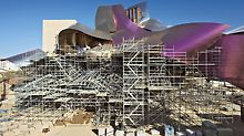 Hotel Marques de Riscal, Elciego, Spain - Designed by Frank O. Gehry, the building complex consists of several cuboids pushed into each other and an almost free-floating roof skin made of titanium.