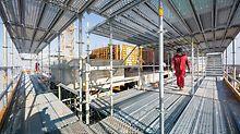 Komplex bleibt einfach - Komplexe Bauwerksformen einrüsten ohne umfangreiche Zusatzbauteile: PERI UP meistert auch diese Nagelprobe souverän.