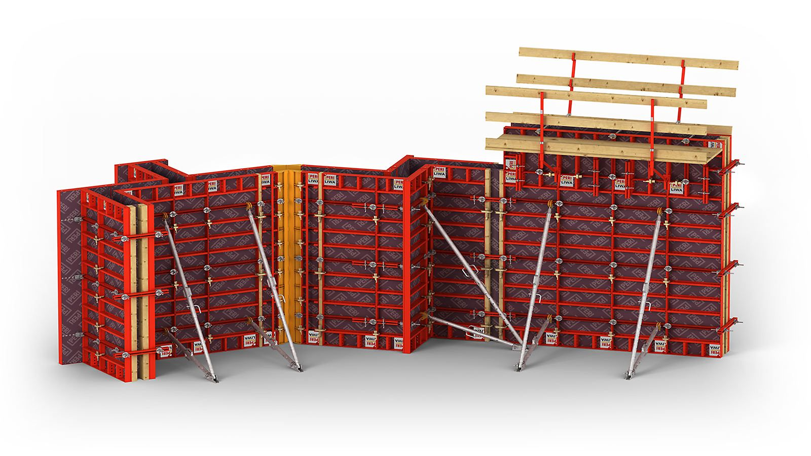 LIWA, the lightweight wall formwork with cleverly designed corner solution