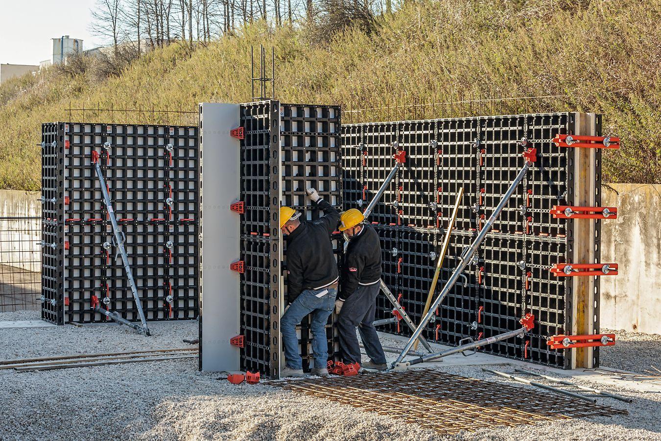 Grâce à leurs dimensions pratiques, les panneaux DUO conviennent parfaitement pour la réalisation de fondations.
