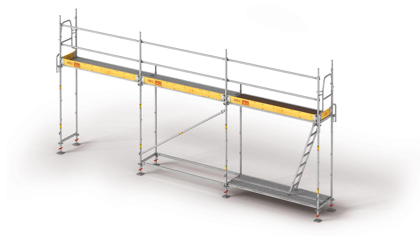 Lekkie i szybkie w montażu rusztowanie ramowe do bezpiecznego wykonywania robót fasadowych
