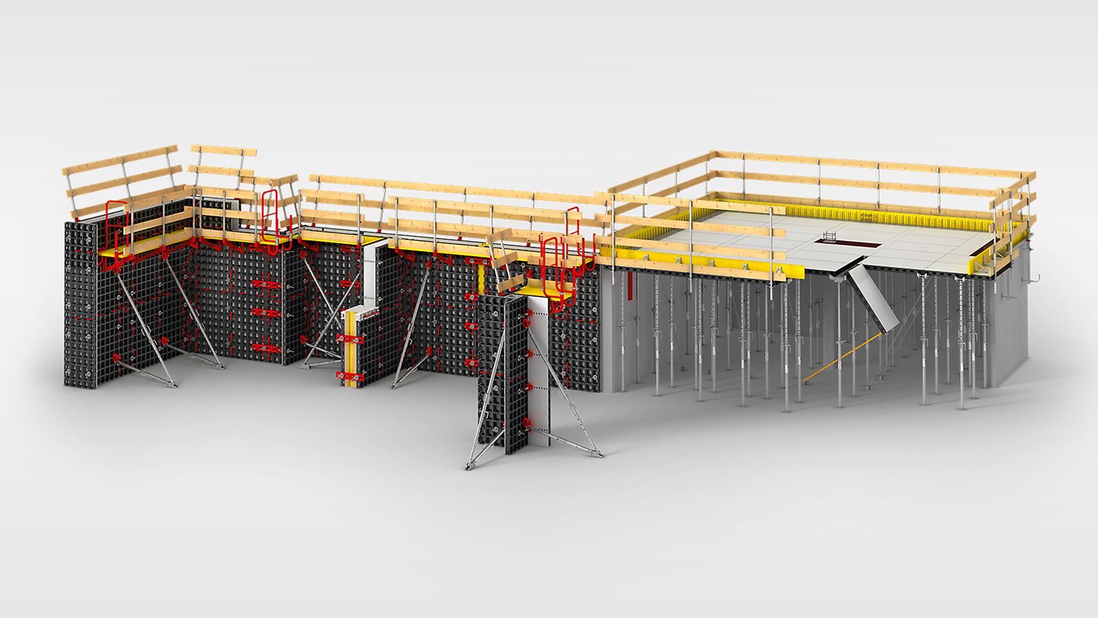 Die universelle Leichtschalung für Wände, Säulen und Decken