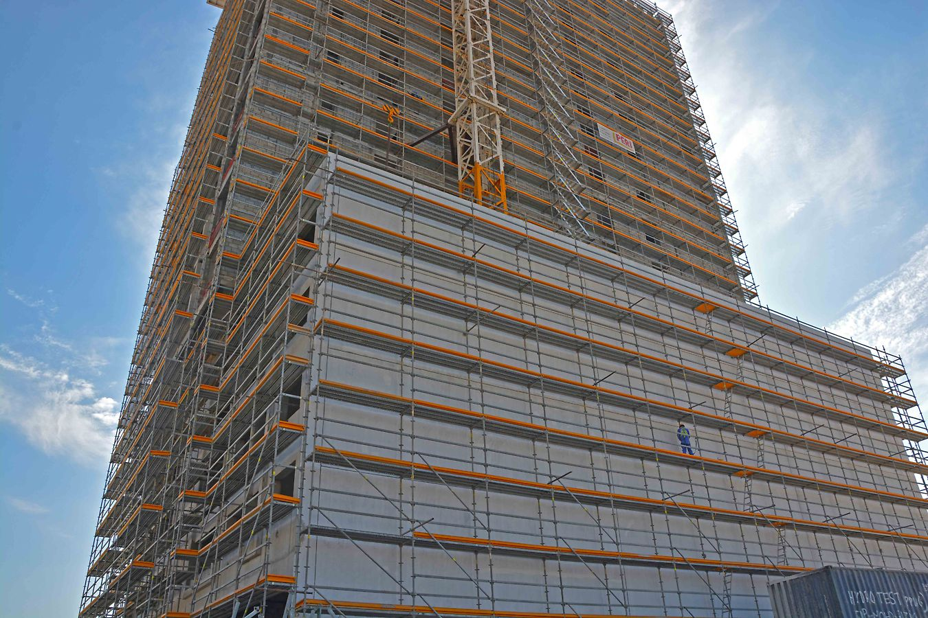 PERI Façade scaffold for this project