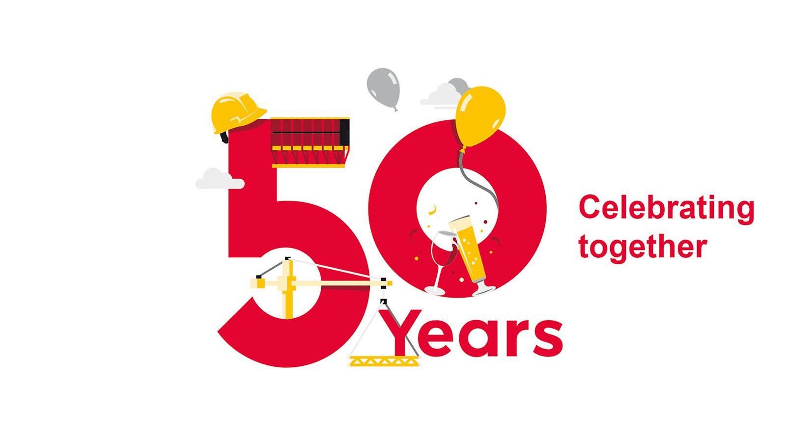 Seit 50 Jahren gilt: Produkte von PERI machen die Arbeit am Bau wirtschaftlicher, schneller und sicherer.