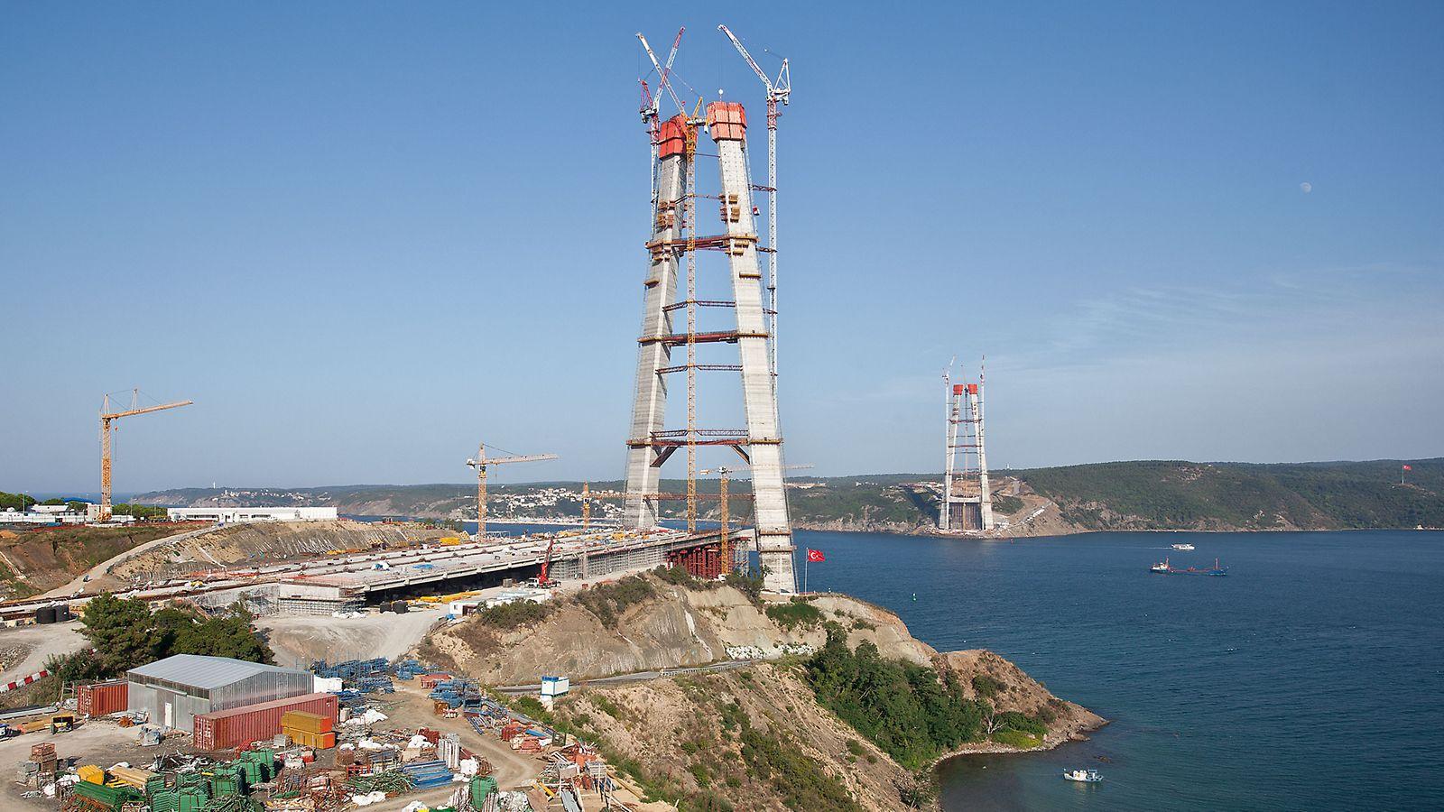 Boğaz'ın üzerinde ülkenin üçüncü ve en geniş köprüsü inşa ediliyor