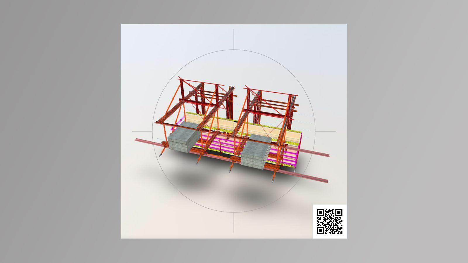 3D model kantdragervogn